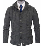 mens button sweater cardigan soft knit cable holiday sweater professional clothes lord owens