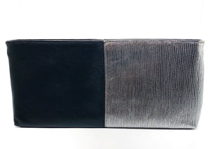 purse black and silver clutch leather italian and french designer lord owens