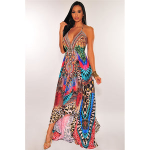 long dress printed maxi dress vacation colorful print