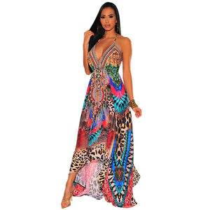colorful maxi dress long