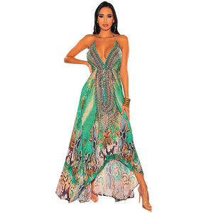 green maxi dress summer dress