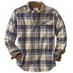 flannel mens shirt blue tan long sleeve camping mens clothes best mens store lord owens