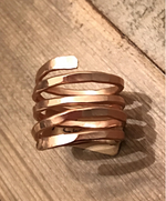 Ring Rose Gold Filled 14K Rose Gold Coil Ring Custom Womens Jewelry Lord Owens