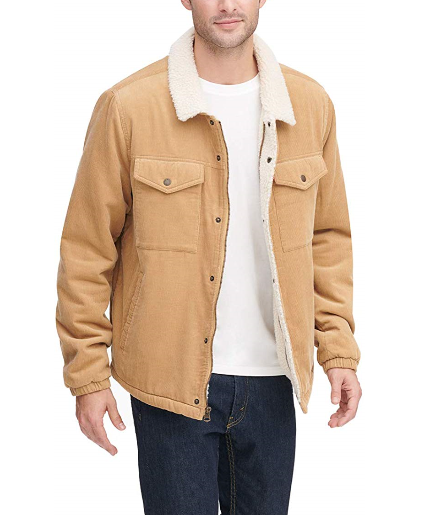 mens jacket levi corduroy khaki light brown mens coats best jackets clothes lord owens