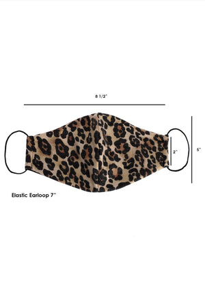 cute face mask cheetah leopard style lord owens