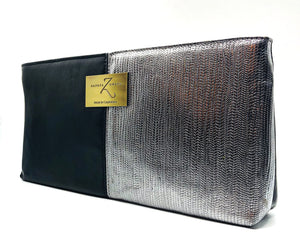 black and silver womens purse clutch bag evening cocktail accessory lord owens zaneta owens