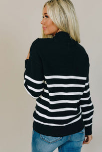 blue nautical white stripe sweater soft and cute sweater