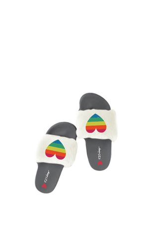 hearts slippers rainbow heart house shoes pj salvage shoes lord owens