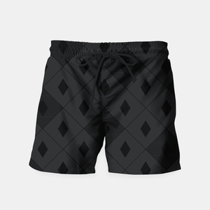 mens black swim shorts diamond pattern swimming mens clothes lord owens