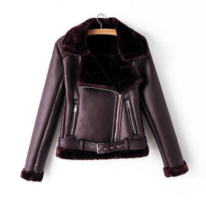 leather jacket brown black purple green womens winter coat best womens clothes lord owens