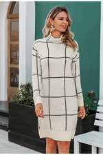 white and black sweater dress womens clothes long sleeve dresses lord owens