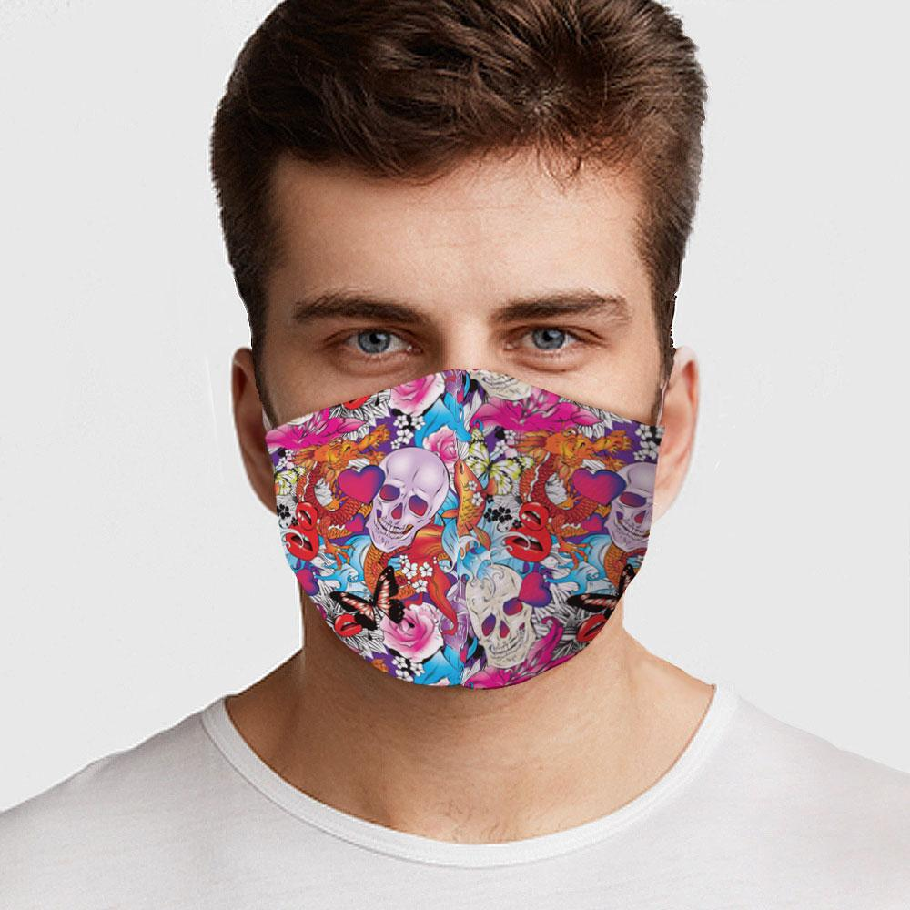 face masks skulls colorful skull face cover lord owens