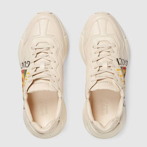 Rhyton logo leather trainers