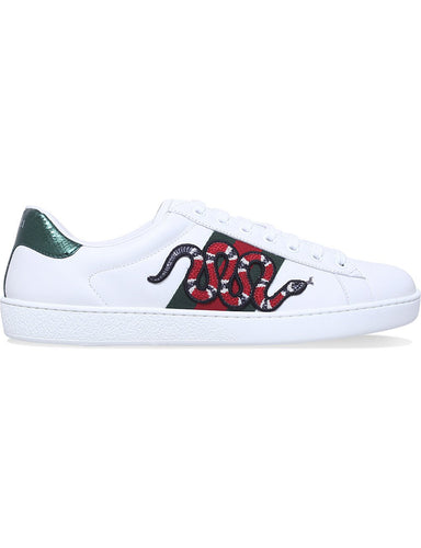 Ace embroidered low-top sneaker snake