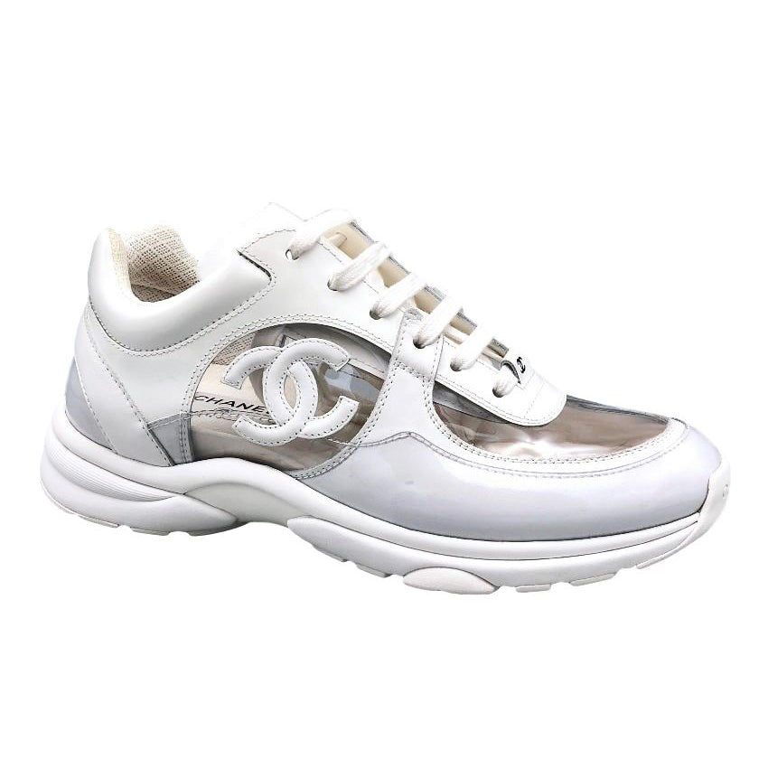 CC LOGO WHITE TRANSPARENT SNEAKER