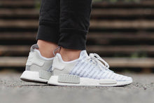 "Load image into Gallery viewer, ADIDAS NMD ""BRAND WITH THE THREE STRIPES"" WHITEOUT"