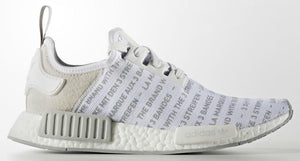 "ADIDAS NMD ""BRAND WITH THE THREE STRIPES"" WHITEOUT"