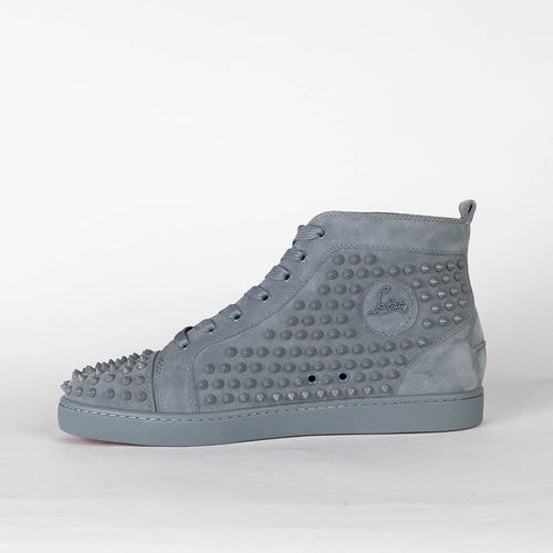 Lou Spikes Orlato Flat Gray Suede