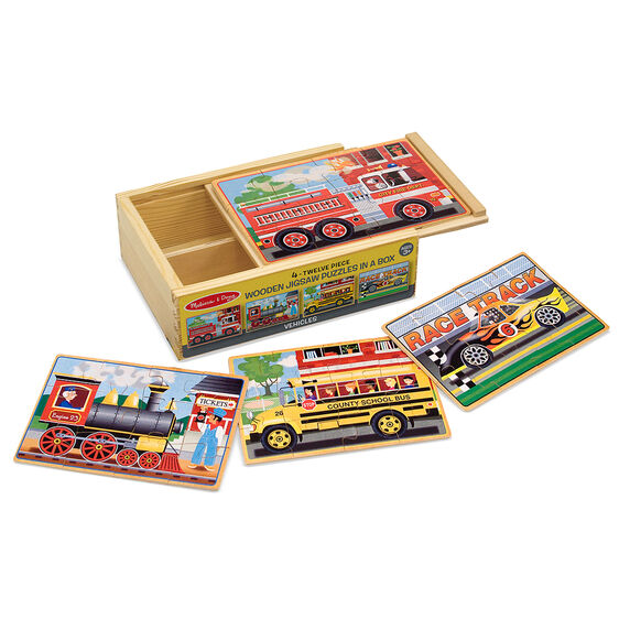 4 Wooden Puzzles - Vehicles