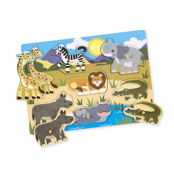 Wooden Peg Puzzle - Safari