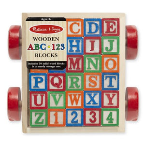 Wooden ABC/123 Block Cart