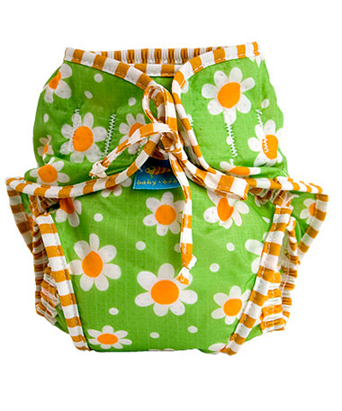 Kushies Swim Diaper - Green Daisy - M