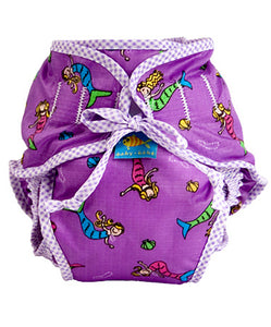 Kushies Swim Diaper - Purple Mermaids - M