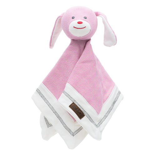 Juddlies Organic Lovey - Sunset Pink Rabbit