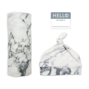 Hello, World!  Newborn Set - Marble