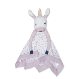 Muslin Cotton Lovie - Modern Unicorn