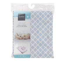 Load image into Gallery viewer, Kushies Crib Sheet - Blue Lattice