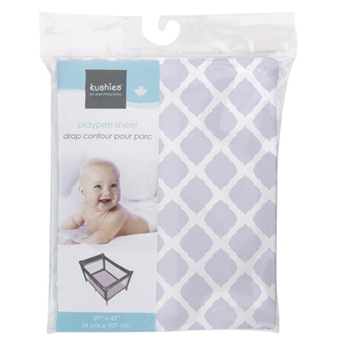 Kushies Playpen Sheet - Purple Lattice