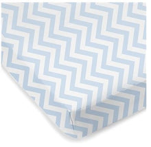 Load image into Gallery viewer, Kushies Crib Sheet - Blue Chevron