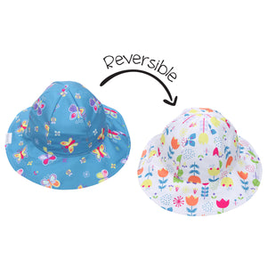 Flapjack/Reversible Sun Hat - Butterfly/Floral - S