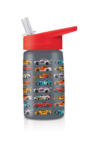 Crocodile Creek Drinking Bottle - Race Cars