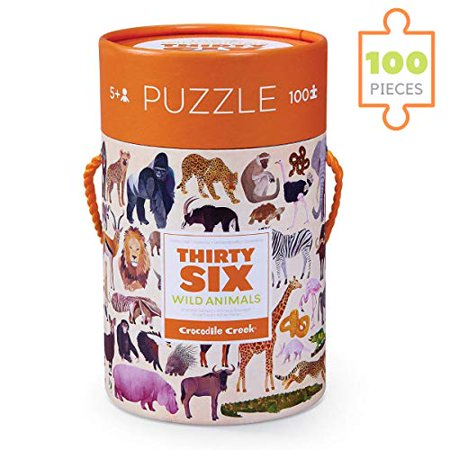 Thirty Six Wild Animal Puzzle - 100 Pieces