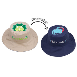 Flapjacks/Reversible Sun Hat Dino - M