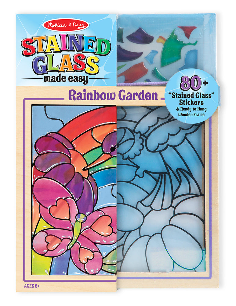 Stained Glass Rainbow Garden