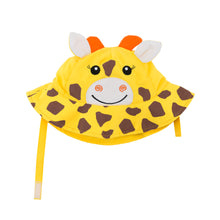Load image into Gallery viewer, Zoocchini Baby Sun Hat Giraffe - 12-24m