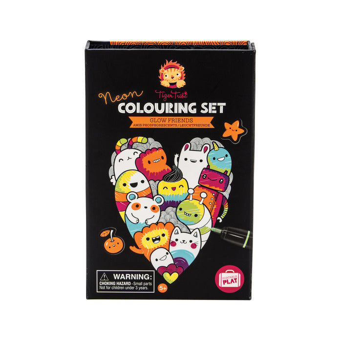 Neon Colouring Set - Glow Friend