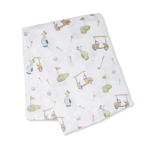 Lululo Cotton Swaddle - Golf
