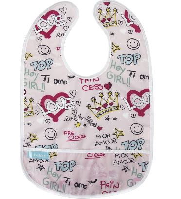 CleanBib - Pink Love - 6-12m
