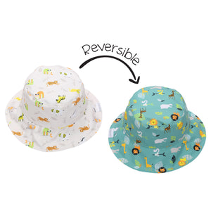 Flapjack/Reversible Sun Hat Grey Zoo - XS