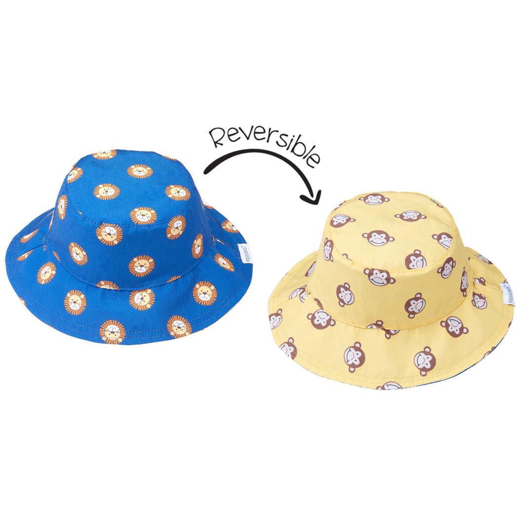 Flapjack/Reversible Sun Hat Lion/Monkey - M