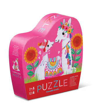 Mini Llama Love Puzzle - 12 Pieces