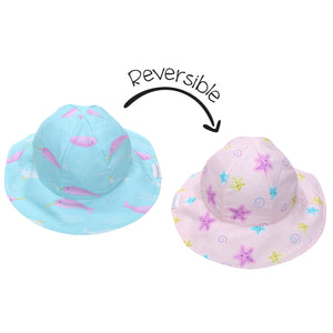 Flapjacks/Reversible Sun Hat Narwhal/Starfish - S