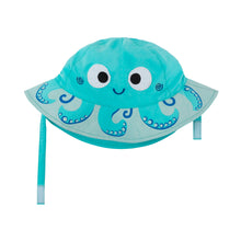 Load image into Gallery viewer, Zoocchini Baby Sun Hat Octopus - 12-24m