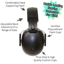 Load image into Gallery viewer, Banz Kidz Earmuffs Onyx - 2+