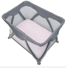 Load image into Gallery viewer, Kushies Playpen Sheet - Pink Lattice