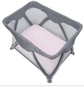 Kushies Playpen Sheet - Pink Lattice